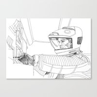 2001 a space odyssey Canvas Prints featuring 2001 A Space Odyssey by Ah Shun