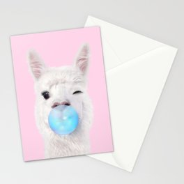 BUBBLE GUM LLAMA Stationery Cards