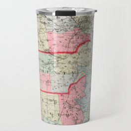 Vintage Map of Rhode Island (1887) Travel Mug