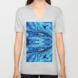 abstract shapes 7 Unisex V-Neck