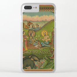 Vintage Indian Label Clear iPhone Case