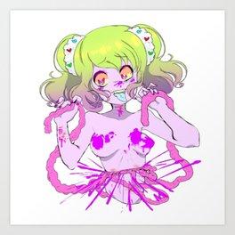 Guro Girl - Splatter CENSORED Art Print