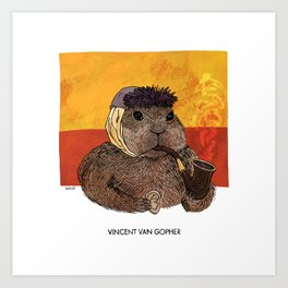 Vincent van Gopher Art Print