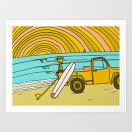 classic summer surf vibes forever Art Print