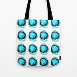 Ocean Agate Turquoise Pattern Tote Bag