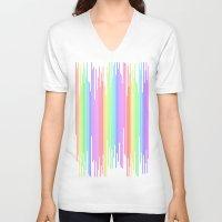bar V-neck T-shirts featuring Rainbow Bar by Sberla
