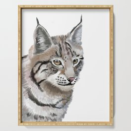 Lynx Cat Serving Tray
