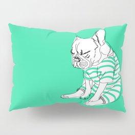 sleepy lazy pug dog sketch Pillow Sham