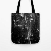 manhattan Tote Bags featuring Manhattan by Anne Dante