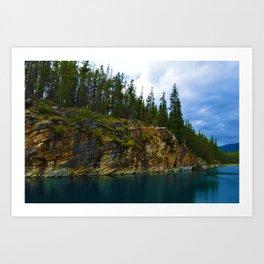 Horseshoe Lake in Jasper National Park, Canada Art Print