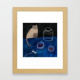 Syama the cat Framed Art Print