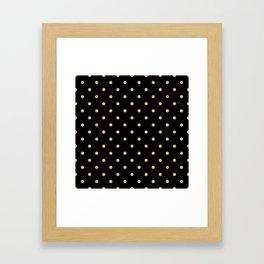 Chic Art Deco Elegant Gold Dot Pattern Framed Art Print