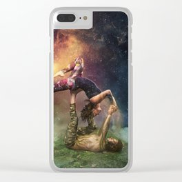 Cosmic Unity Clear iPhone Case