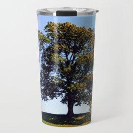 Posing tree on a hill in summertime Travel Mug