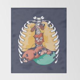 Anatopug Throw Blanket