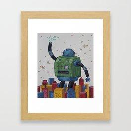 Robots Don't Dream Anymore Framed Art Print