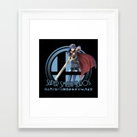 super smash bros Framed Art Prints featuring Lucina - Super Smash Bros. by Donkey Inferno