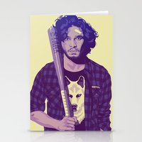 Stationery Cards featuring 80/90s - J.S by Mike Wrobel