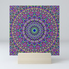 Happy Bohemian Jungle Mandala Mini Art Print