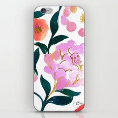 Pretty Pink Flora iPhone Skin