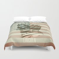 lincoln Duvet Covers featuring Lincoln by Gusvili