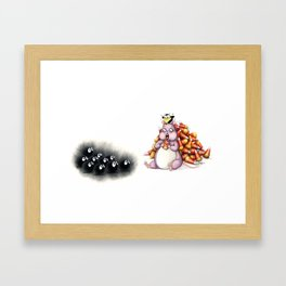 Boh and Sooties Halloween Framed Art Print
