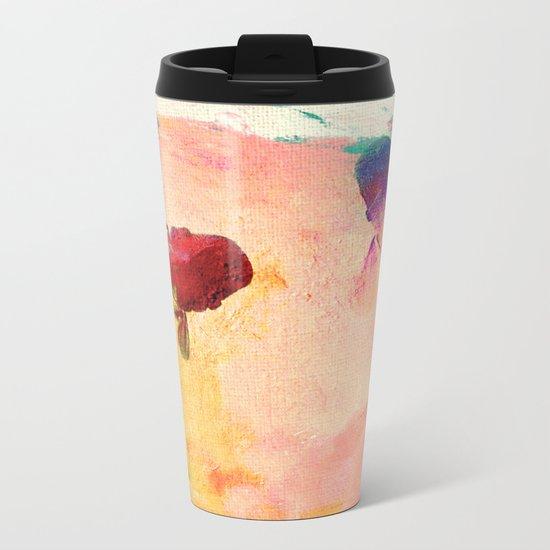 Canvas Koi Metal Travel Mug