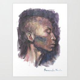 TAMARA woman Art Print