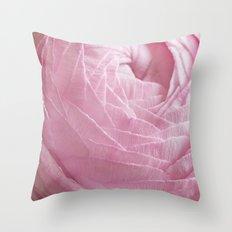 Floral Strata Throw Pillow