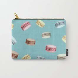 Macaroon pattern (Blue) Carry-All Pouch