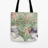 men Tote Bags featuring Old Men by Jason Ratliff