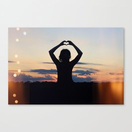 Love and Sunsets Canvas Print