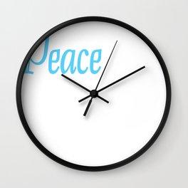 Peace Gift idea Harmony Reconciliation Wall Clock