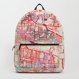 Germantown map Tennessee TN Backpack
