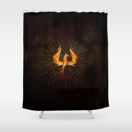 Fire Phoenix Bird Shower Curtain