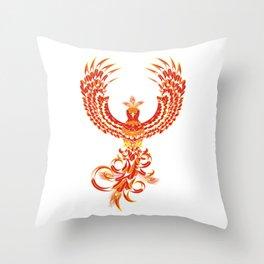 Mythical Phoenix Bird Throw Pillow
