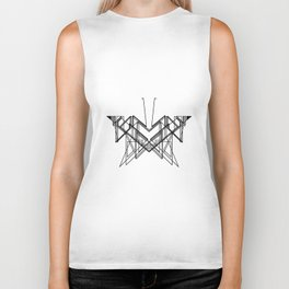 Butterfly without back Biker Tank