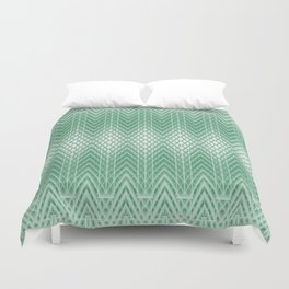 Cool Mint Green Frosted Geometric Design Duvet Cover