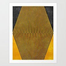 Geometric Soul Mates Art Print