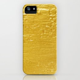 Solid Gold Paint Texture iPhone Case