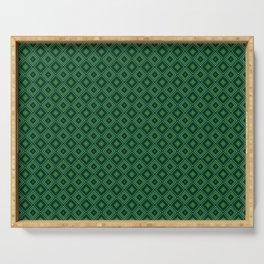 Emerald Green Diamond Pattern Serving Tray