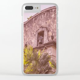 Palm Tree Summer - The Alamo Clear iPhone Case