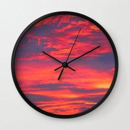 Inferno Sky Wall Clock