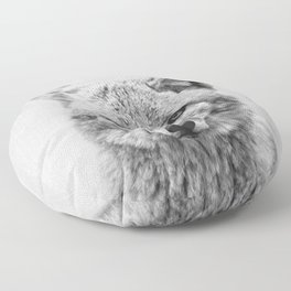Coyote - Black & White Floor Pillow