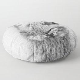 Coyote - Black & White Floor Pillow