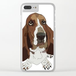 Basset Hound Clear iPhone Case