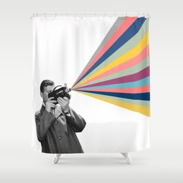 03 Movie maker Shower Curtain