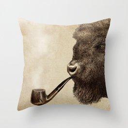 Big Smoke Throw Pillow