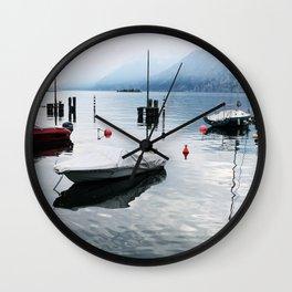 Boats on Lake Garda Wall Clock