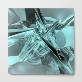 Turquoise Reflections Metal Print